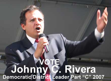Photo of Democratic Party candidate, Johnny C. Rivera, photo taken August 18, 2007