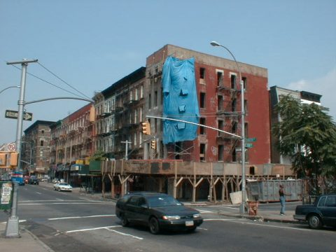 Building being renovated on East 108th Street and Lexington Avenue