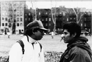 Two East Harlem Young Men in conversation