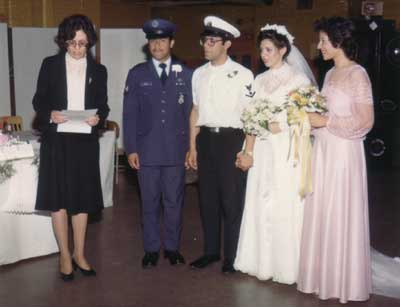 Photo of Jose B. Rivera Wedding complete with military dress.  A military family indeed.