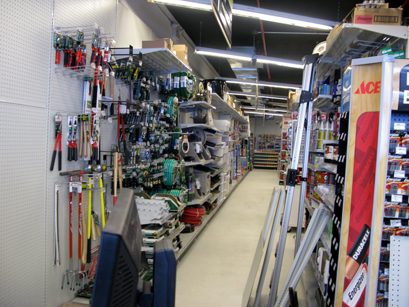 A look at the inside of the Hardware Store.