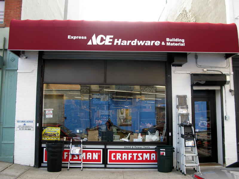 Outside view of the new Ace Hardware Store in East Harlem