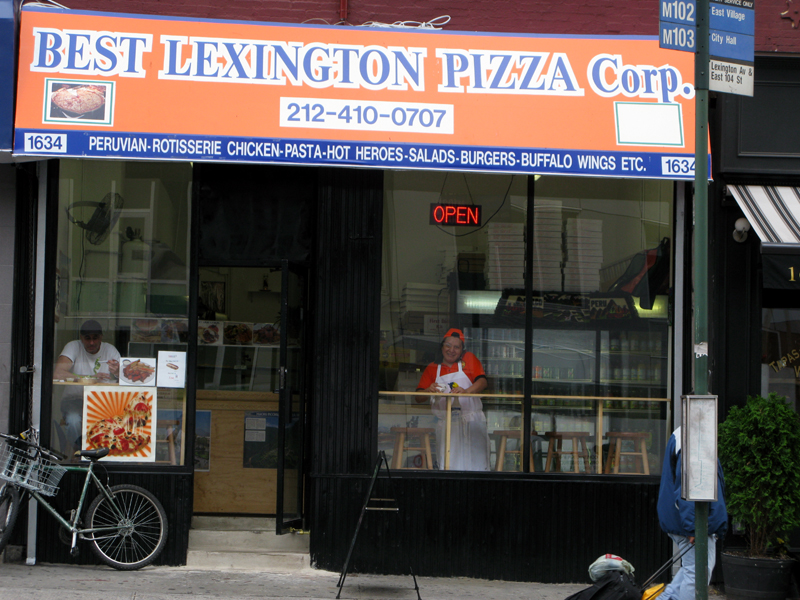 Outside view of Best Lexington Pizza.