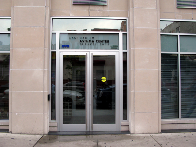 Photo of the front of the East Harlem Asthma Center of Excellence