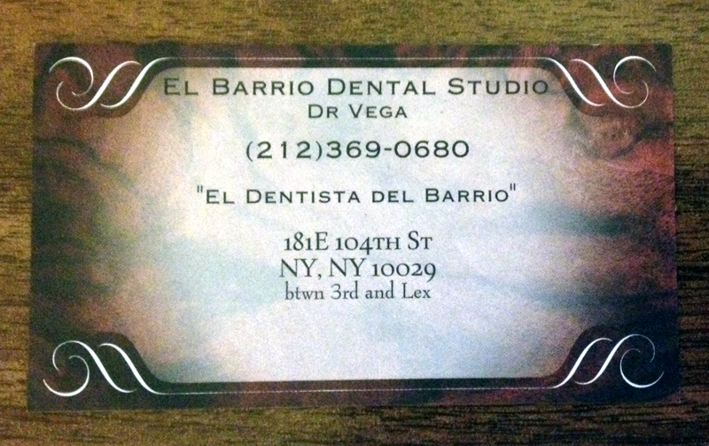 El Barrio Dental Card