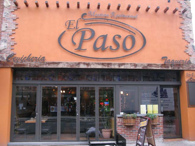 Photo of the front of the Taqueria