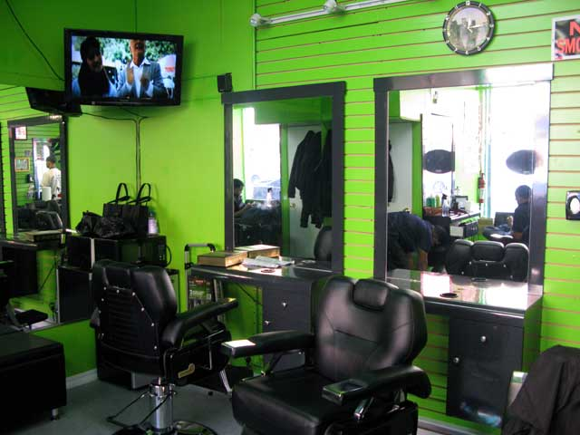 The great looking inside of the barbershop.