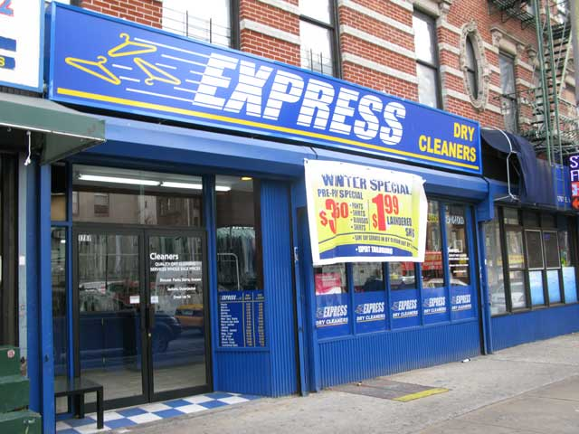 Front of the Express Dry Cleaners