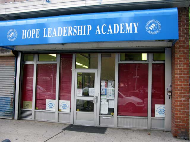Hope Leadership Academy front entrance