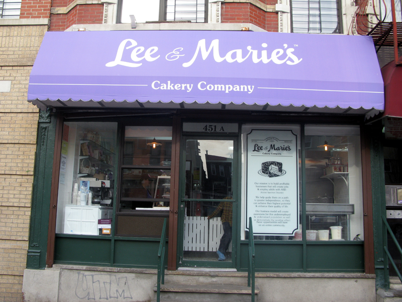 The Outside front view of Lee and Marie's