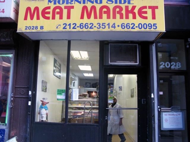 Photo of the front of the Morningside Meat Market