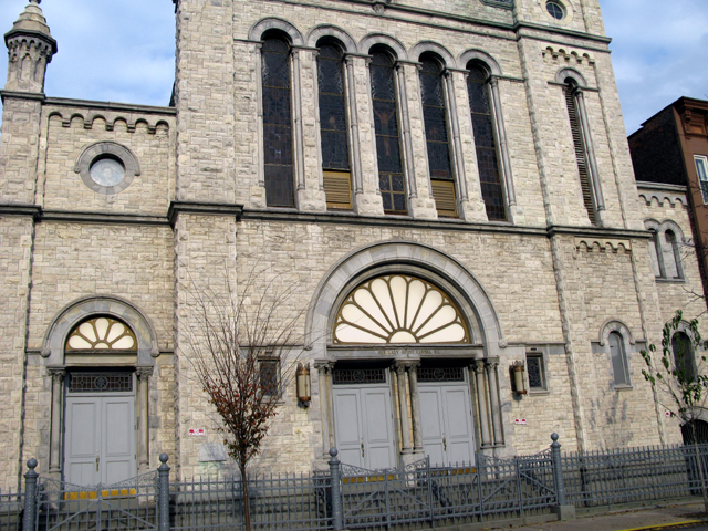 Photo of the front of Our Lady of Mt Carmel Church