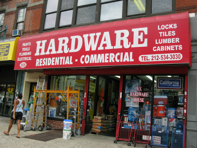 Photo of the front of New York Hardware