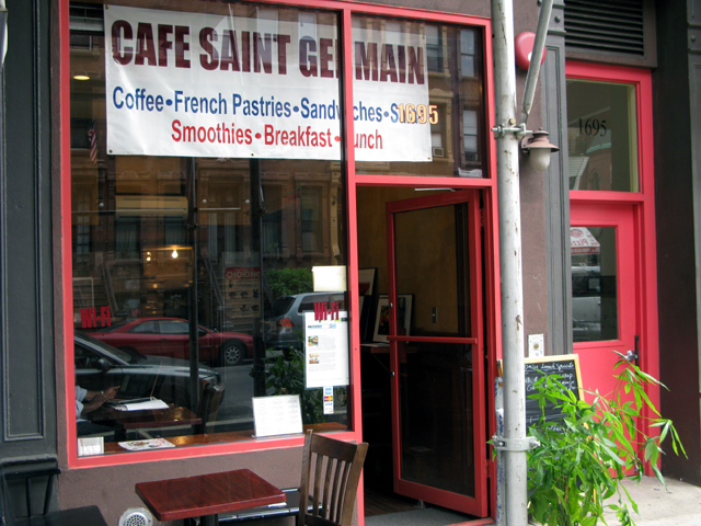 Photo of the front of Cafe Saint German