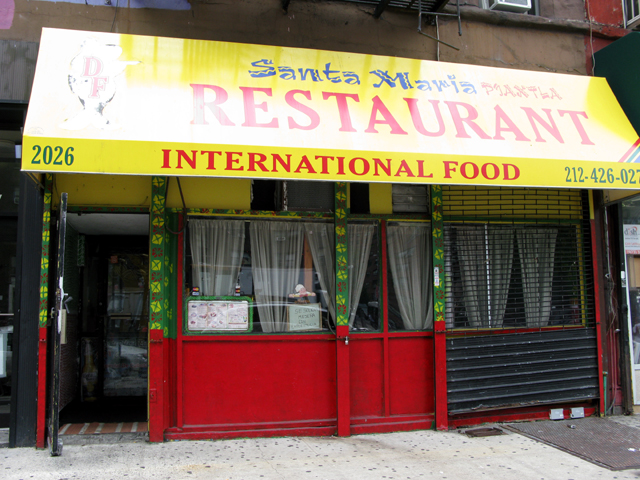 Photo of the front of the Santa Maria Restaurant
