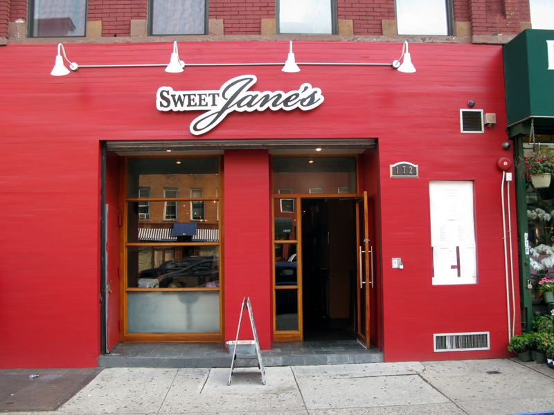 Photos of the outside of Sweet Jane's
