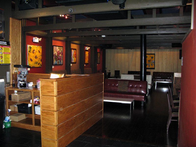 Photo of part of the inside back section of Sweet Jane's
