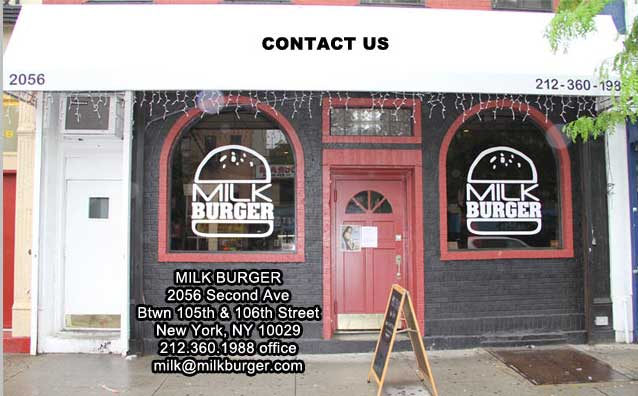 Outside view of the front of Milk Burger