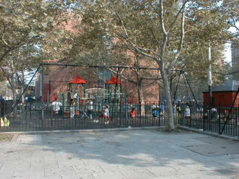 Picture of a public playground on 109th Street and Third Avenue
