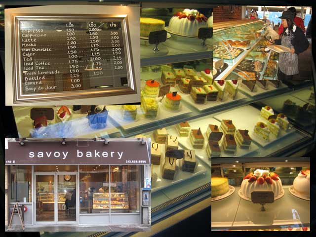 Photo Various parts of the Savoy Bakery, from outside to the inside