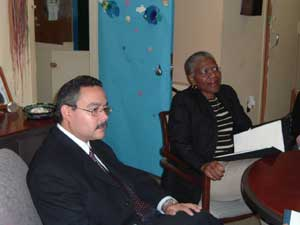 Photo of Principal Israel Soto and Manhattan Borough President C. Virginia Fields