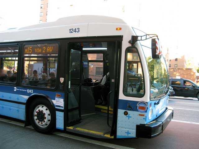 bus driver waits