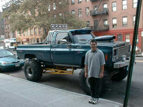 Picture of a big souped up truck