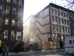 Photo of the empty space where 1723 Lexington Avenue use to exist.