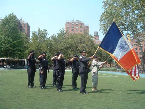 Photo of the Precinct Honor Guard