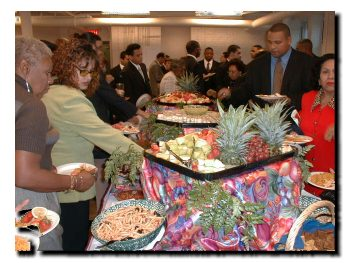 Picture of the wonderful food served after the speaches were done