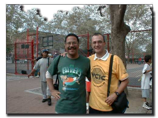 Picture of Democratic District Leader, Felix Rosado, with East Harlem Online Founder/President, Jose B. Rivera