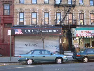Photo of the new Army Career Center located at 122 East 103rd Street near Lexington Avenue
